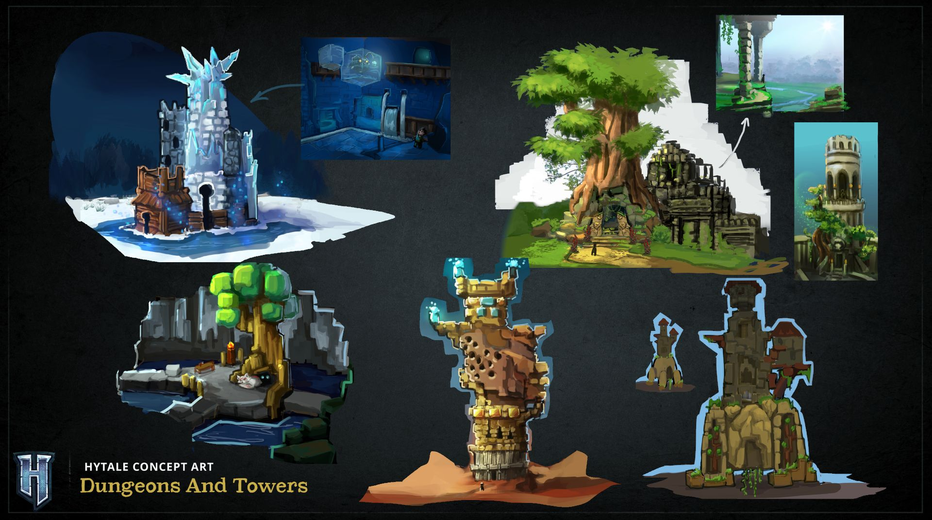 Aperçu des donjons et des tours dans Hytale