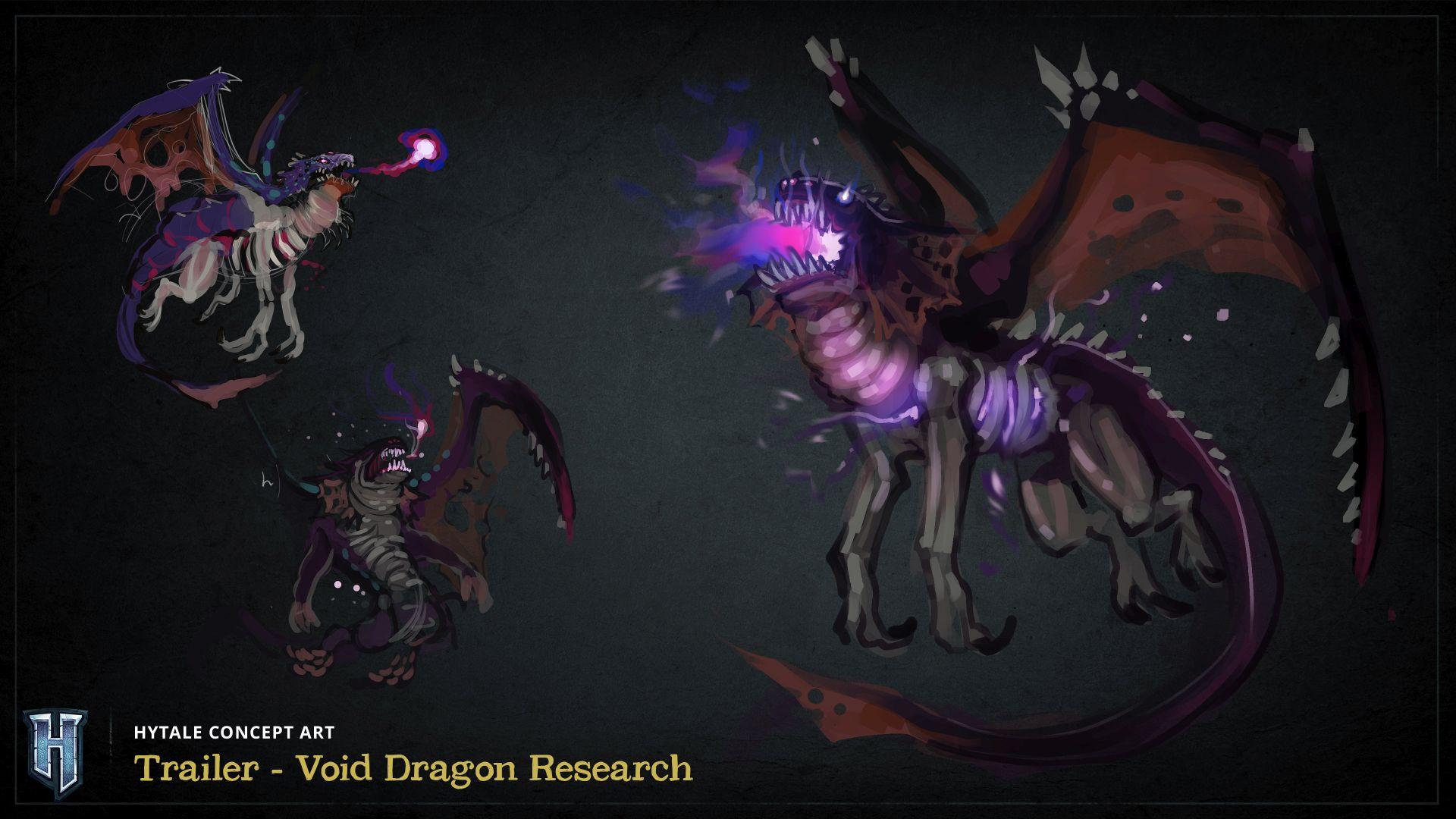 Dessin représentant le Dragon du Néant dans Hytale