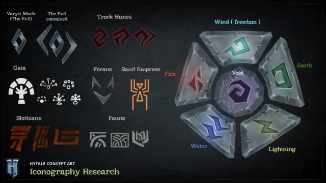 Un aperçu de différentes runes dans Hytale