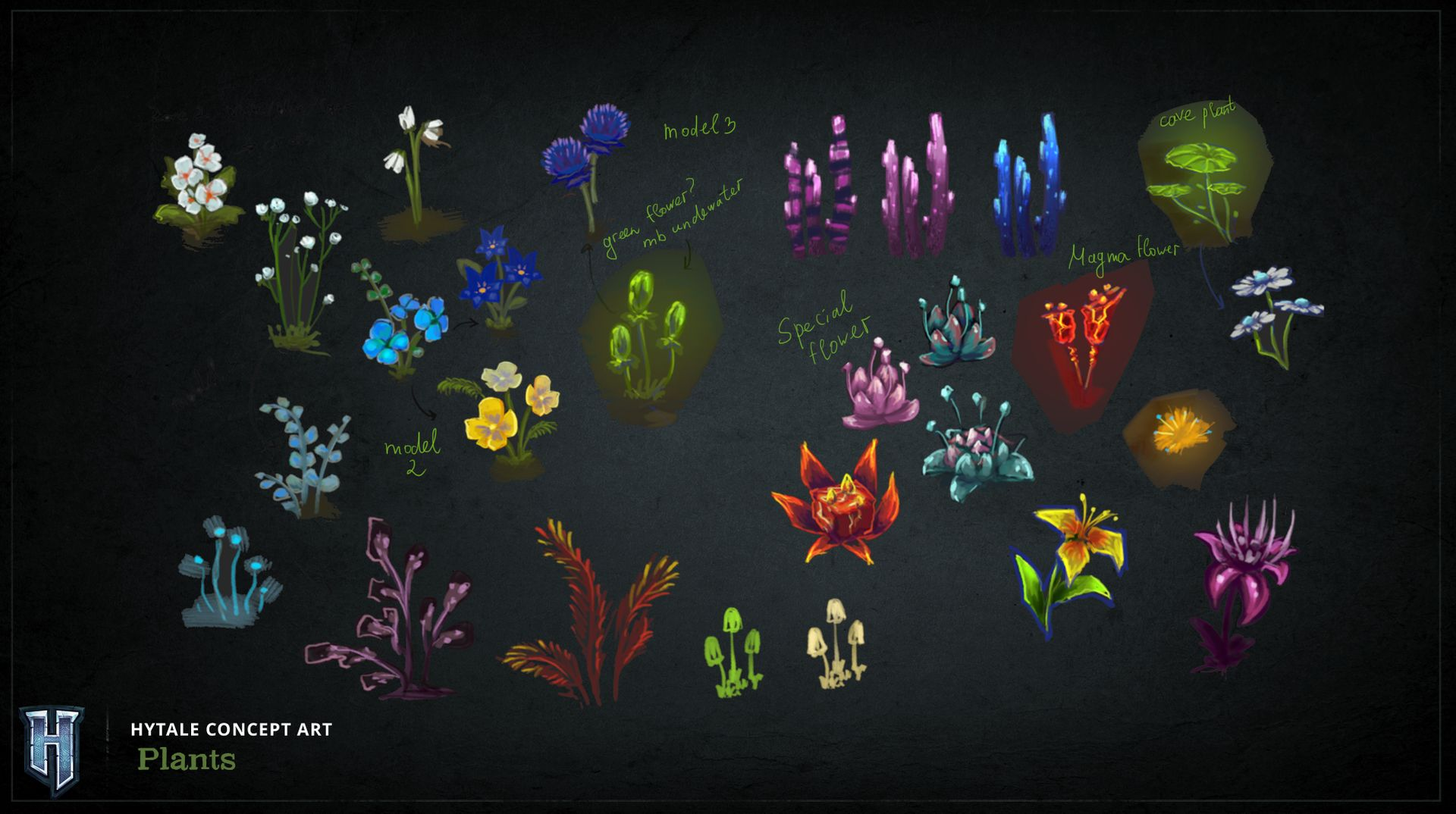 Voici quelques plantes qui seront dans Hytale