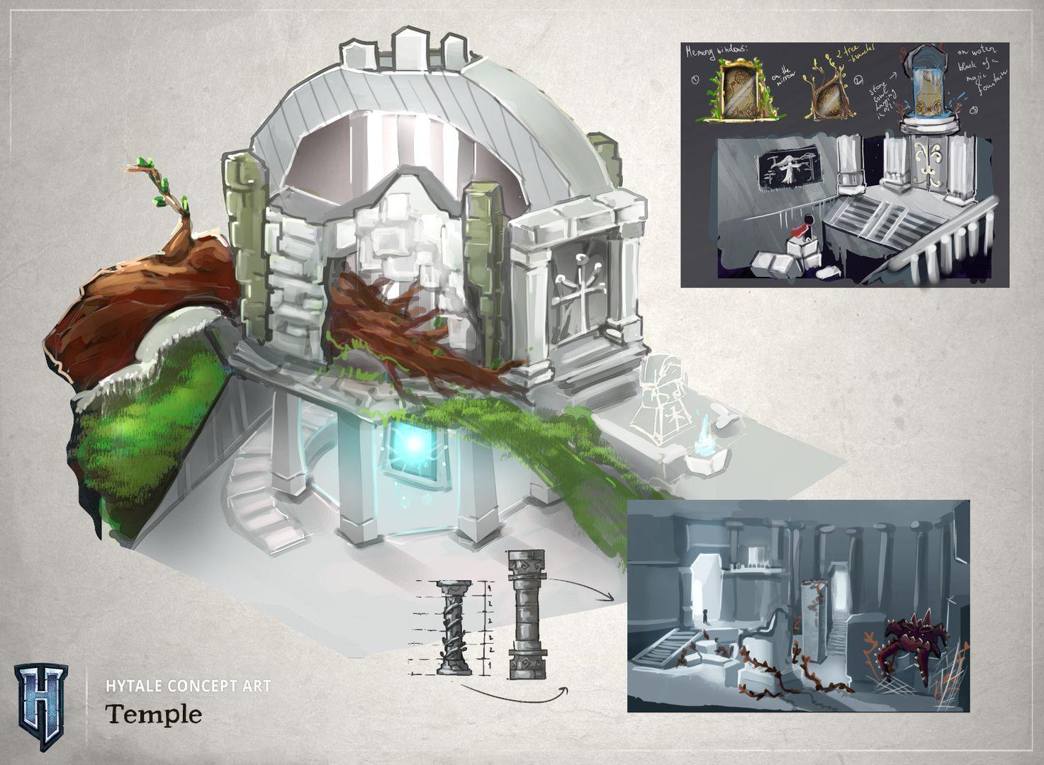 Aperçu d'un temple du jeu Hytale