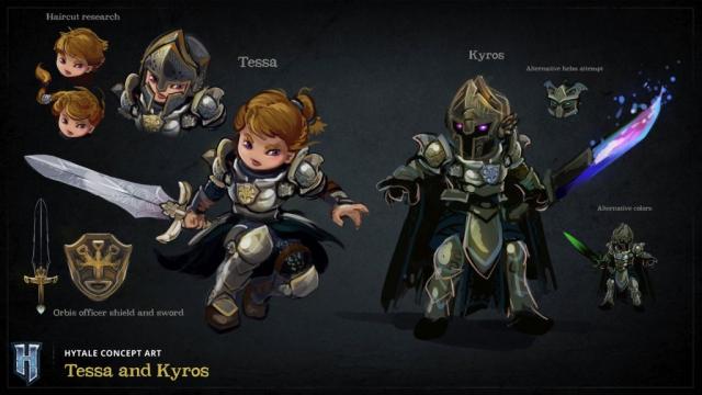 Deux personnages du nom de Tessa et Kyros