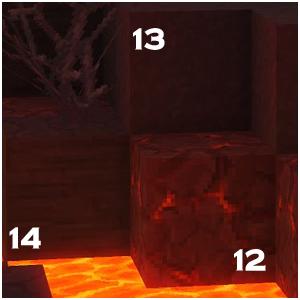 Trois roches de la zone 4 proches de la lave : une partiellement en fusion, une striée et une homogène.